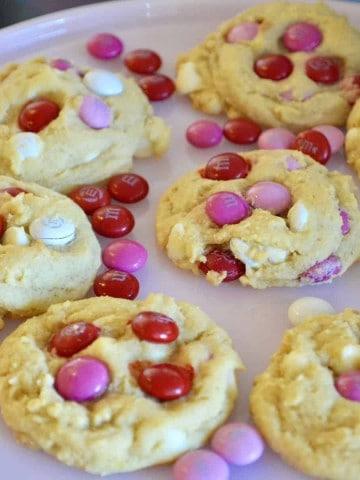 Valentine's Day M&M Cookies Recipe