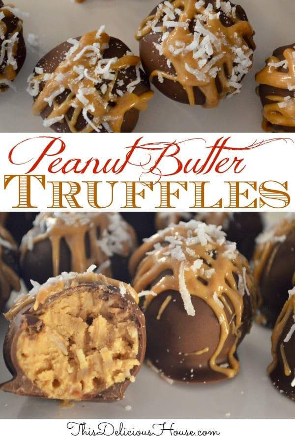 peanut butter coconut truffles
