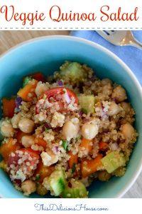 easy vegetable quinoa salad