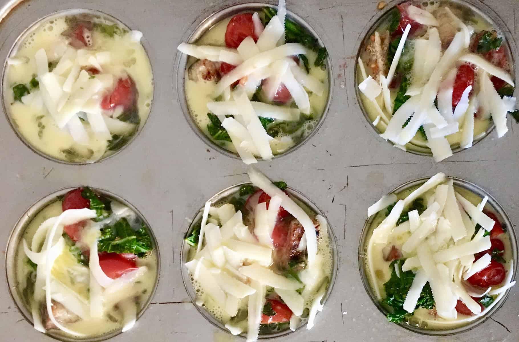 kale egg breakfast cups