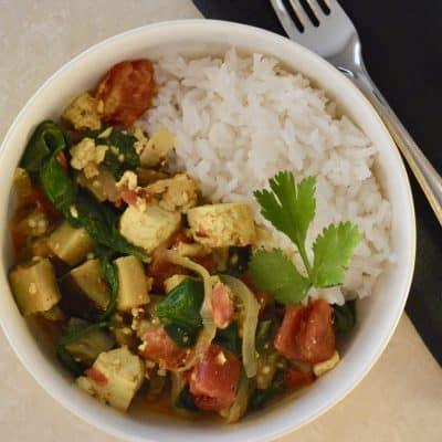 Tofu Eggplant Curry (Vegan Friendly)