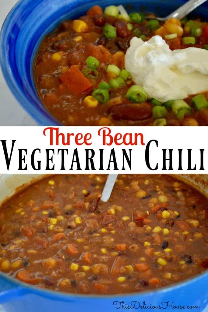 Vegetarian Chili Pinterest Pin.