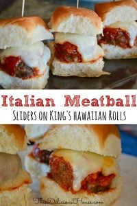easy Italian meatball sliders