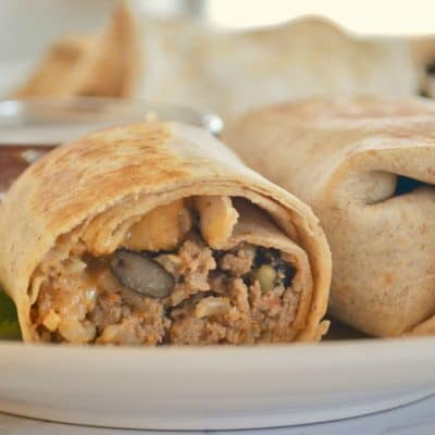 Freezer Burritos: Ground Turkey Black Beans