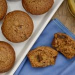 Healthy Carrot Muffins on a white plate
