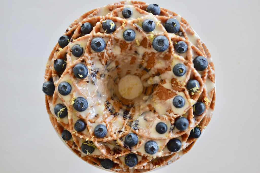 blueberry lemon bundt cake make in a jubilee cake pan