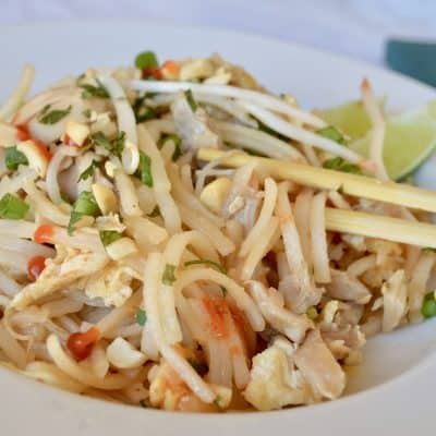 rotisserie chicken pad thai