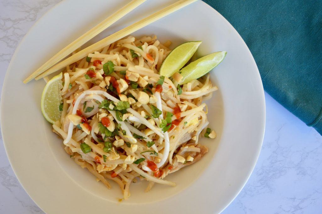 rotisserie chicken pad thai