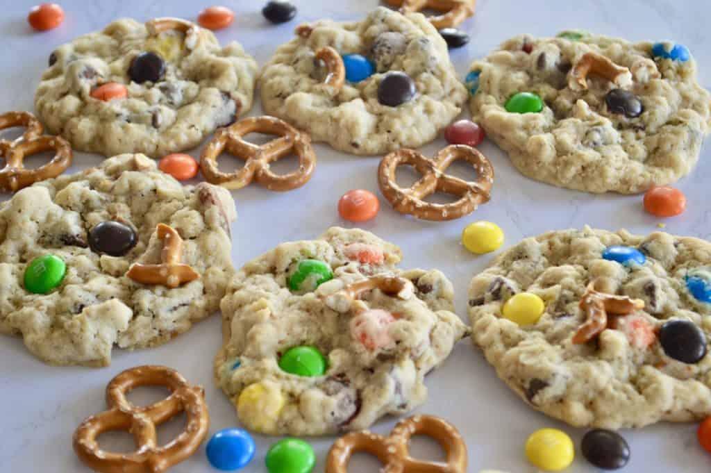 Pretzel M&M Oatmeal Cookies