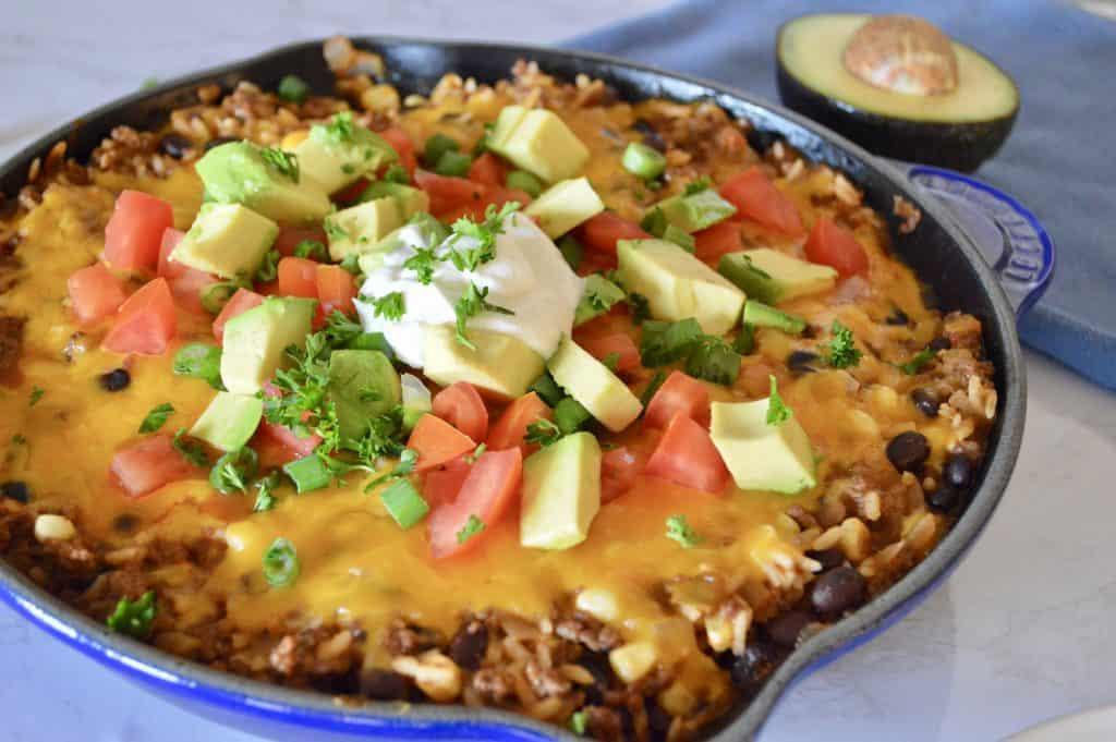 Cheesy Skillet Burrito