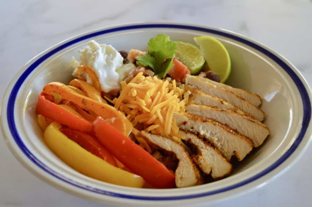 Mexican Chicken Fajita Bowl