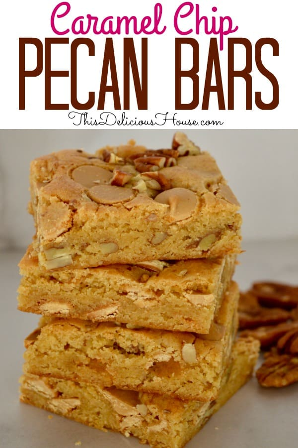 caramel pecan bars using Ghirardelli