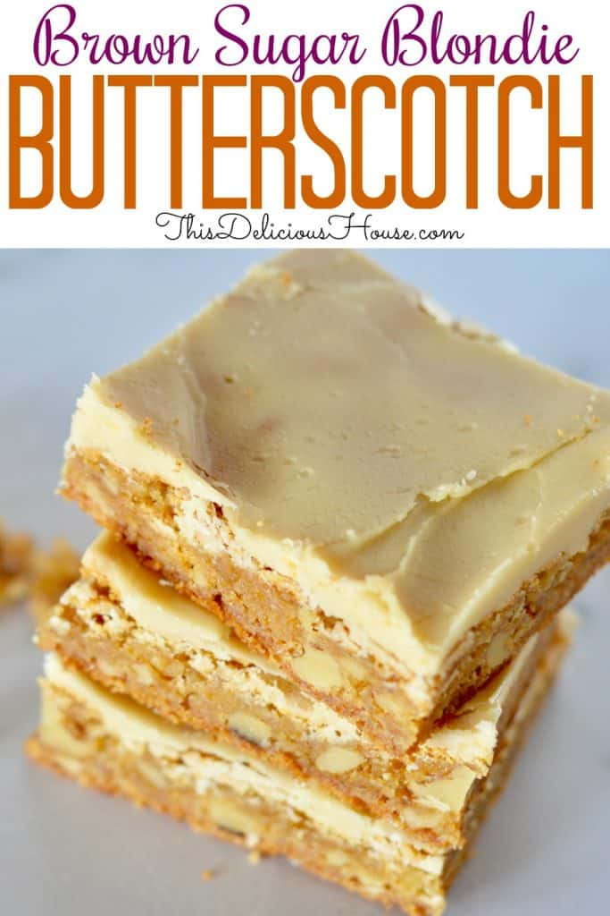 Frosted butterscotch blondies