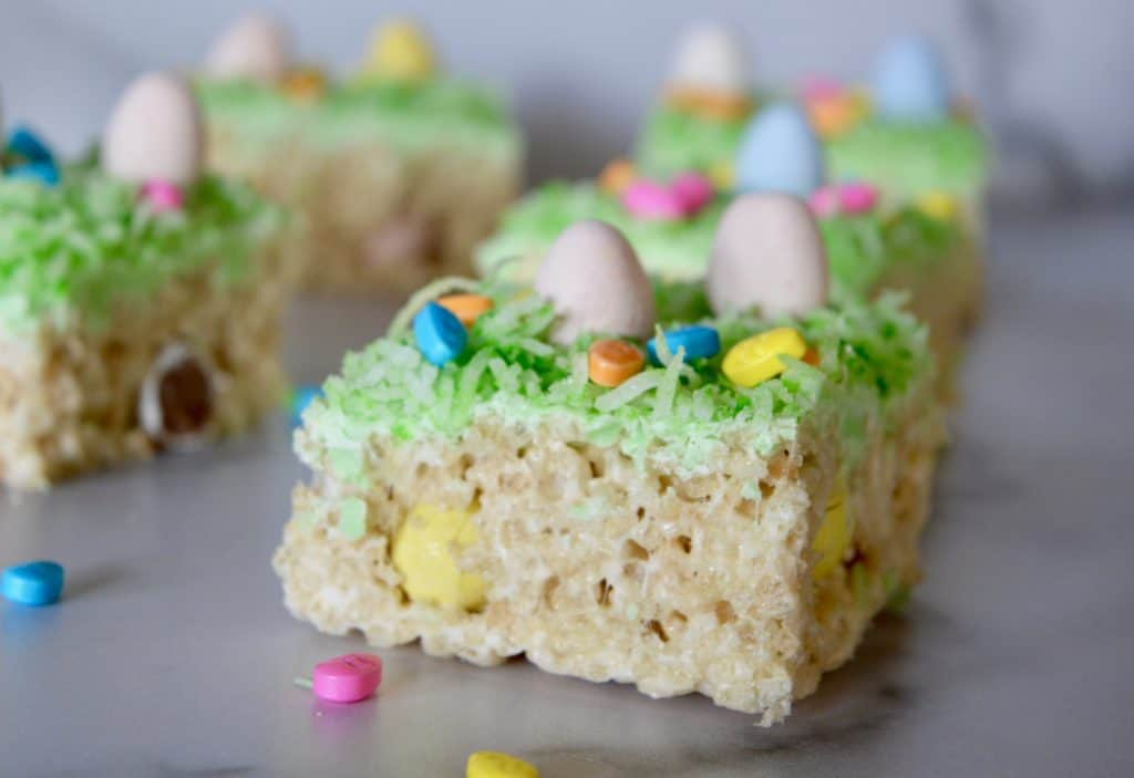 easy easter treats using Rice Krispies and Cadbury mini eggs