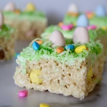 easy easter treats using Rice Krispies and Cadbury mini eggs