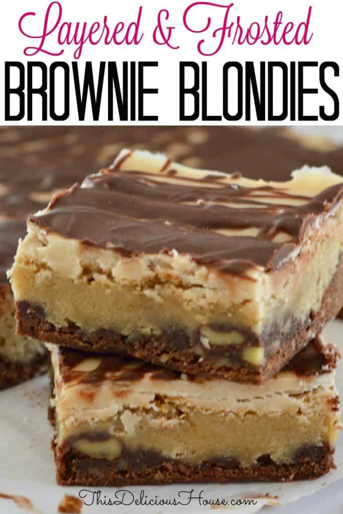 Brownie Blondie Bars Pinterest Photo.