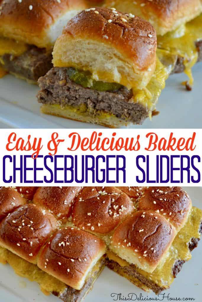 Easy Baked Cheeseburger Sliders.