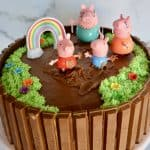 Peppa Pig Birthday Cake with mummy, daddy, and George