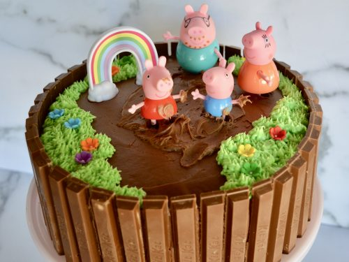Brilliant Peppa Pig Birthday Cake Kit Kat Cake This Delicious House Personalised Birthday Cards Veneteletsinfo