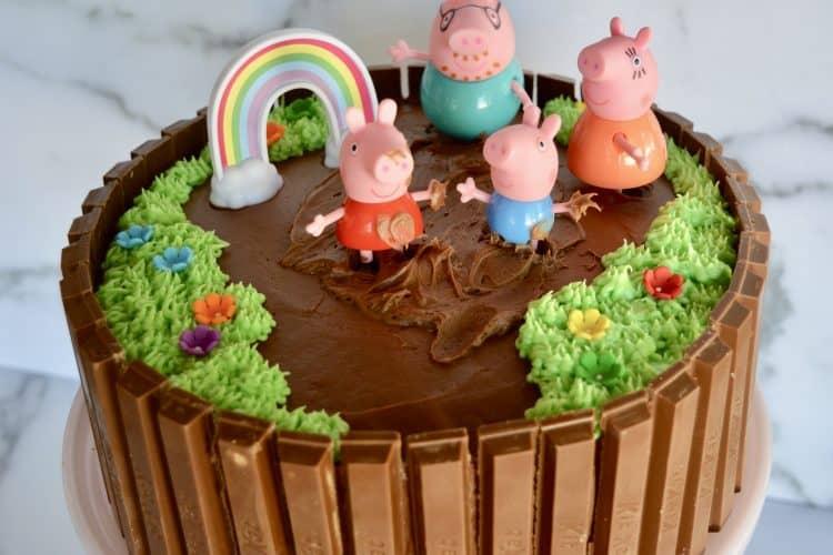 Peppa Pig Birthday Cake | Kit Kat Cake