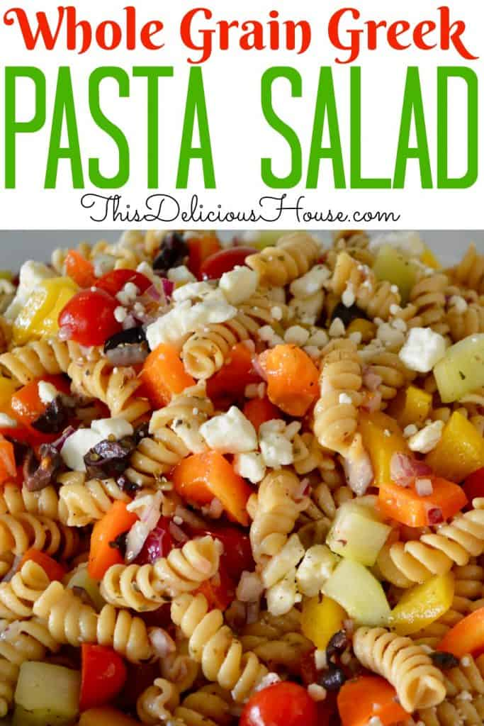 whole grain greek pasta salad