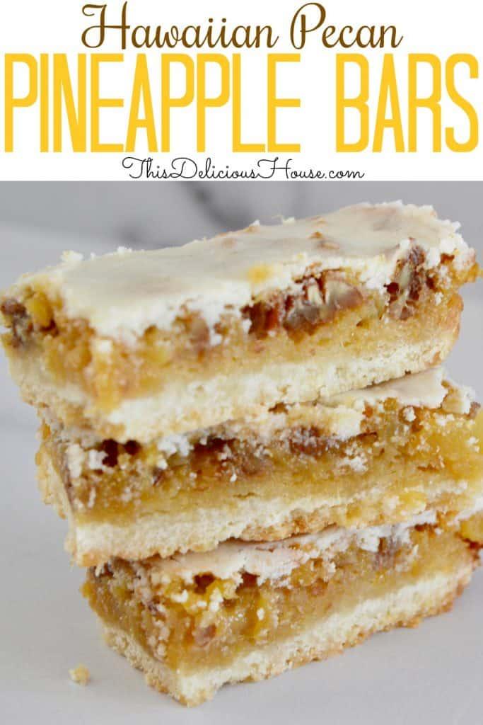 pineapple bars Pinterest image.