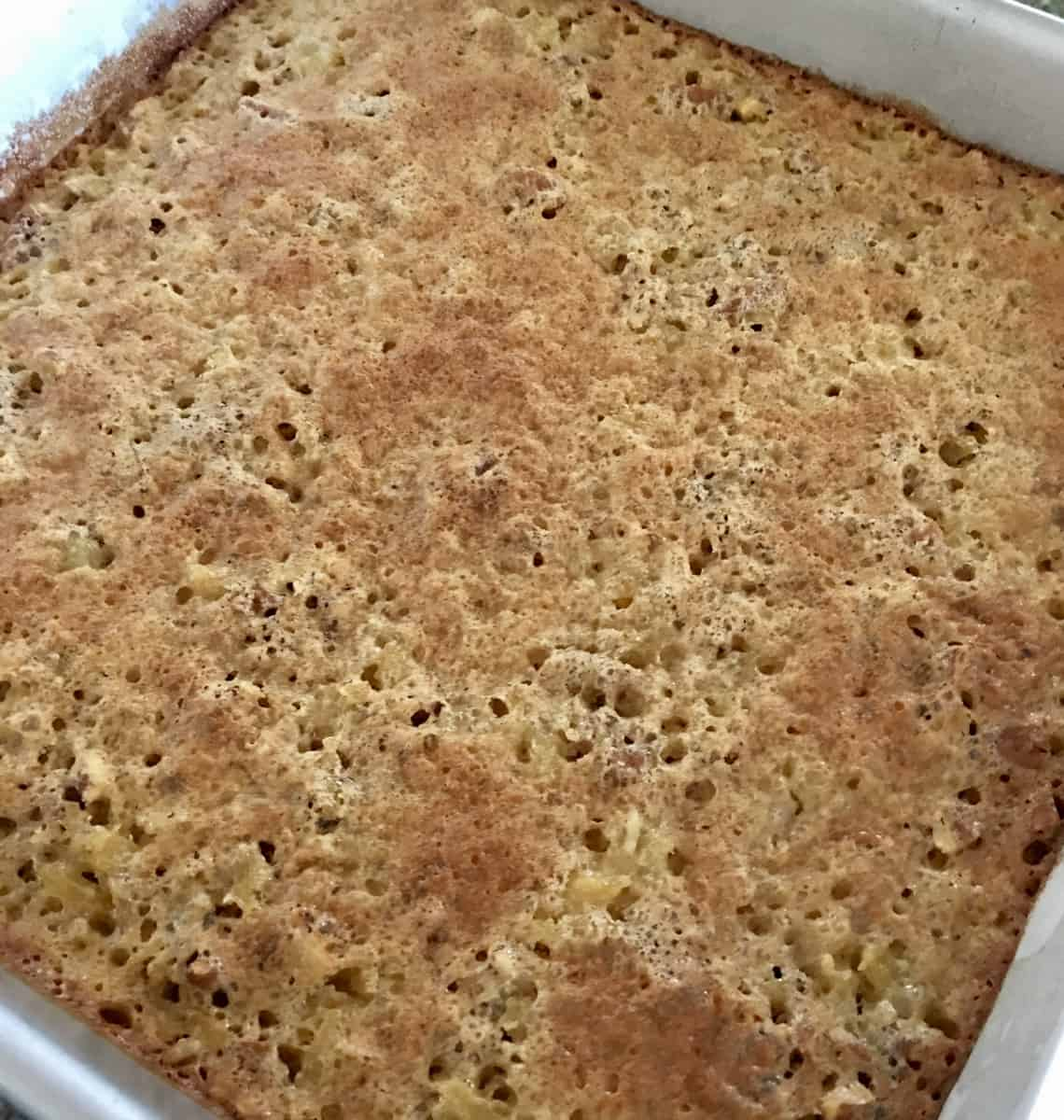 top layer baked on the squares.