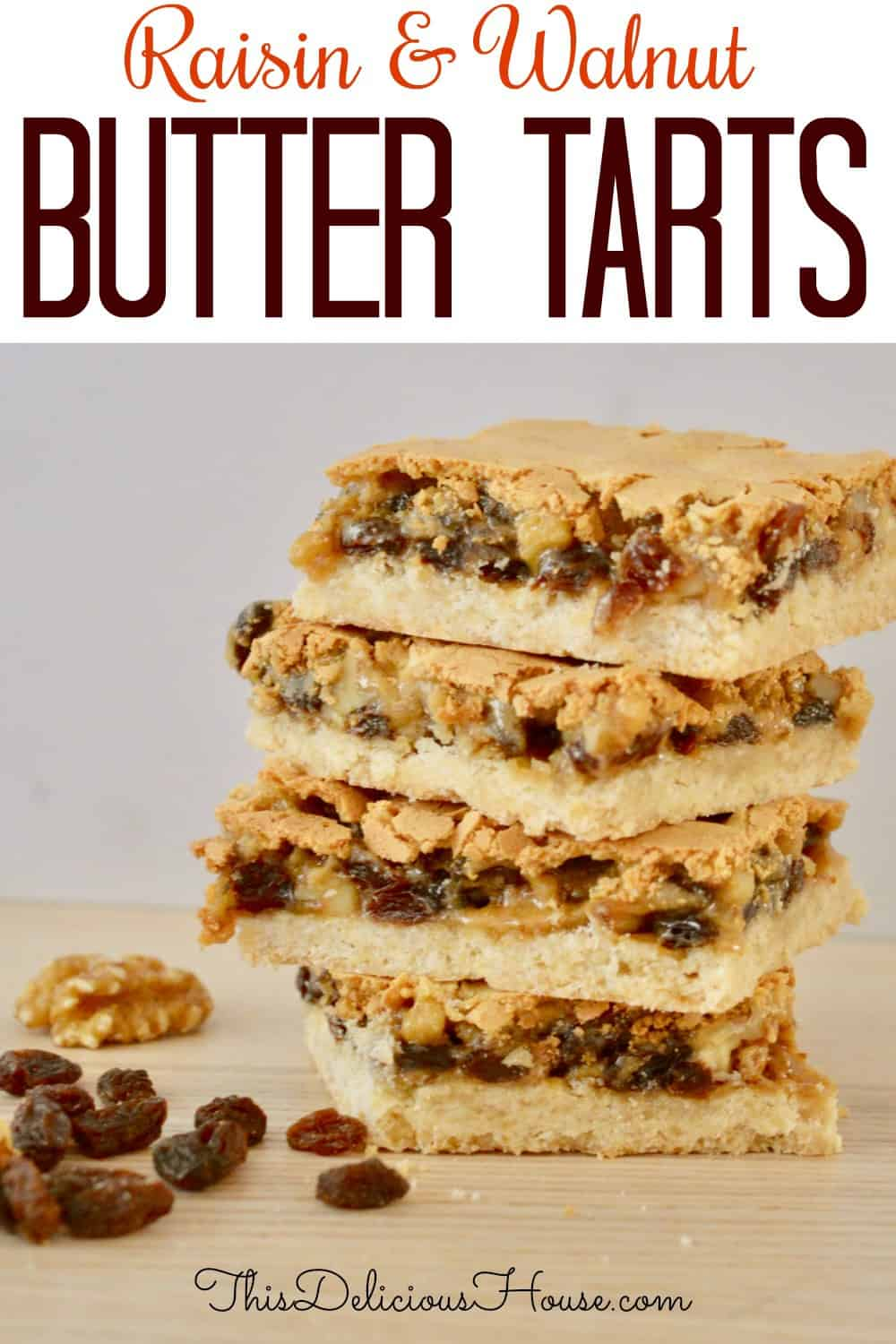 butter tart squares pinterest pin.