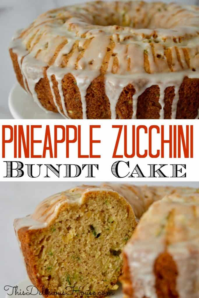 pineapple zucchini Bundt Cake pinterest pin.