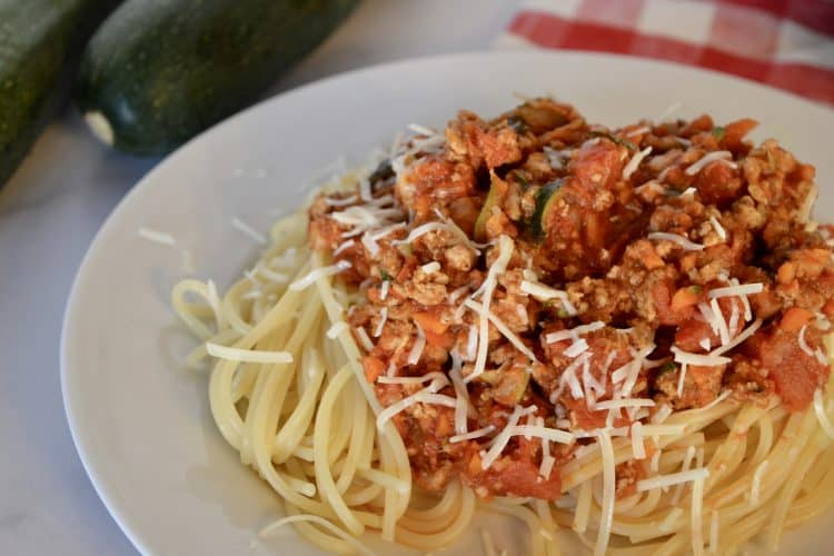 Turkey Vegetable Spaghetti | Healthy Bolognese