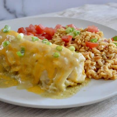 Green Chili Chicken Burritos