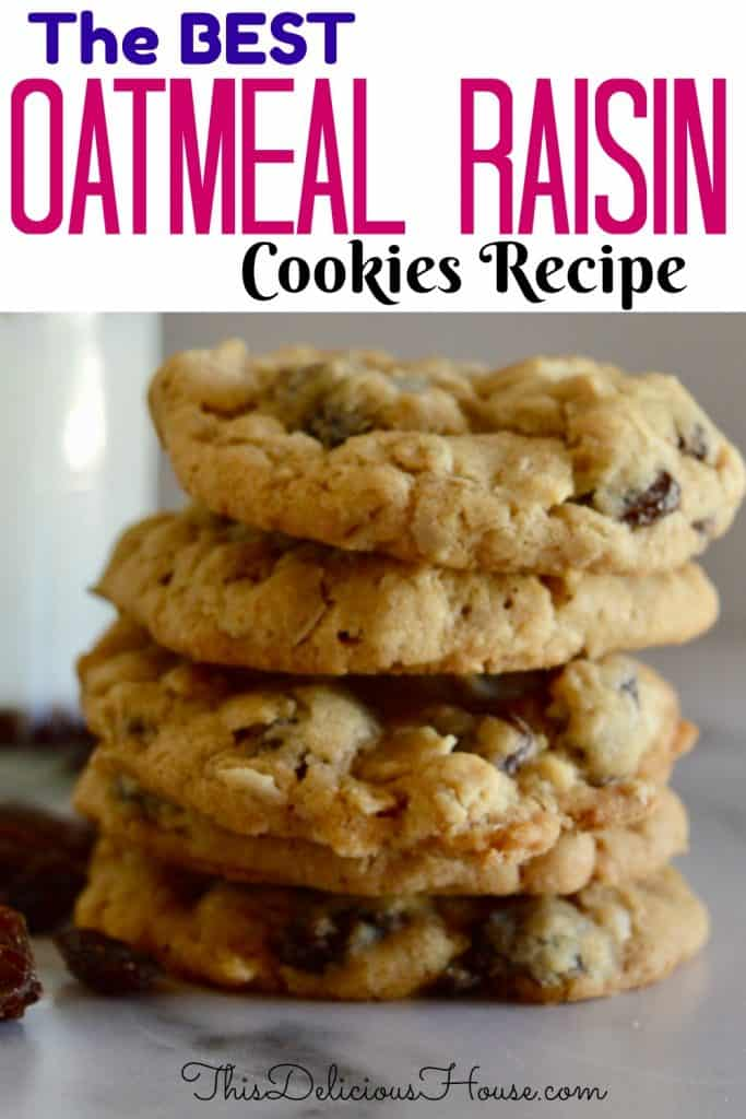 Oatmeal Raisin Cookies Pinterest Pin.
