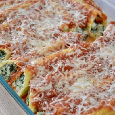 Turkey Spinach Manicotti | Healthy & Low Calorie!