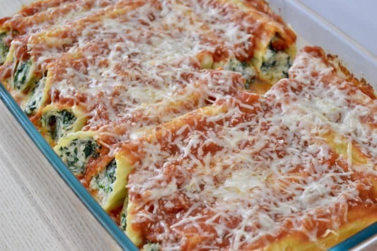 Turkey Spinach Manicotti | Healthy & Low Calorie