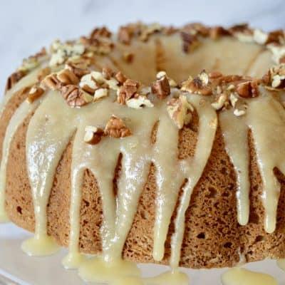 Bourbon Pecan Banana Cake | Bourbon Glaze