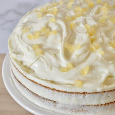 Limoncello Ricotta Cake | Cream Cheese Frosting