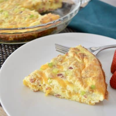 Bacon Cheddar Crustless Quiche
