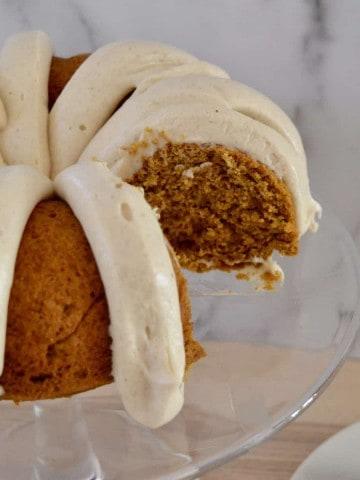 pumpkin spice bundt cake from mix.