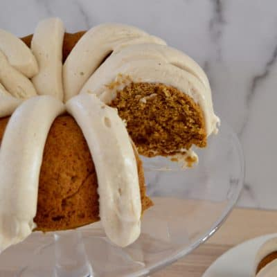 pumpkin spice bundt cake from mix.