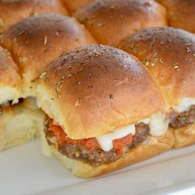Mini Baked Meatball Sandwiches