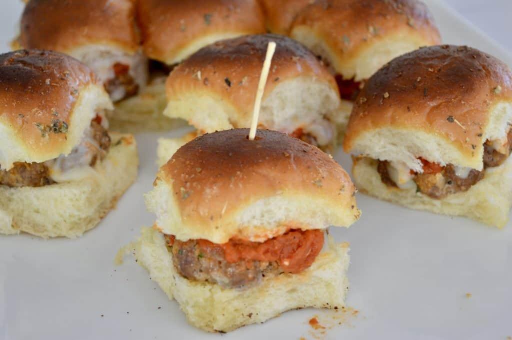 baked mini meatball sandwiches.