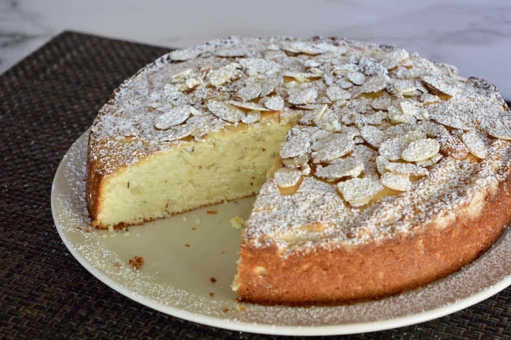 Italian Almond Ricotta Cake.