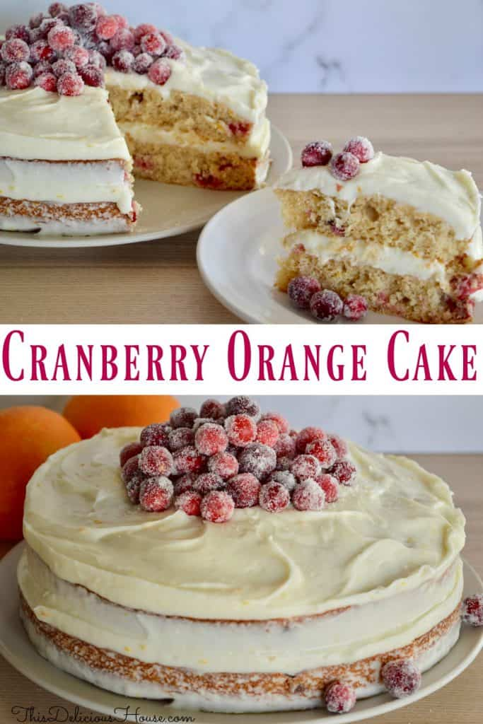 cranberry orange spice cake Pinterest pin
