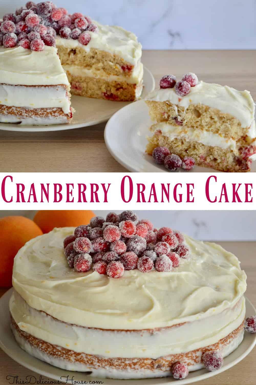 cranberry orange spice cake Pinterest pin
