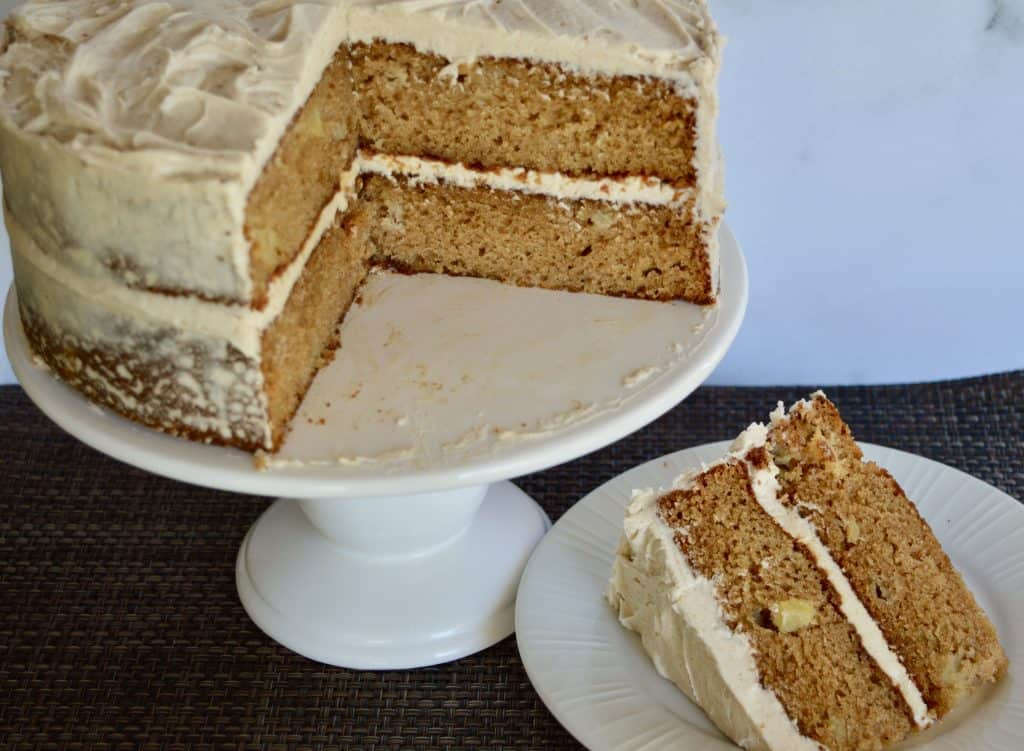 Apple Spice Cake with Cinnamon Buttercream Frosting