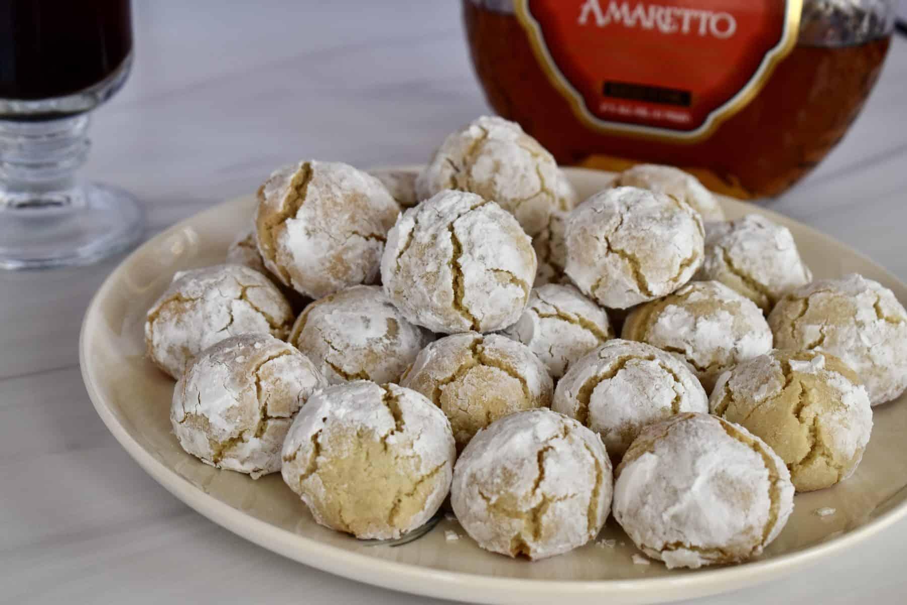 Amaretti Cookie recipe on a plate.