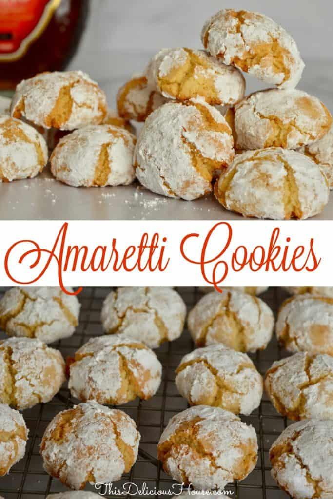 amaretti cookie recipe pinterest pin.