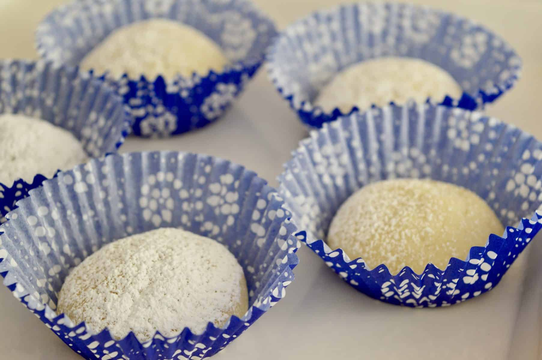 cookies served in muffin liners for mess free eating.