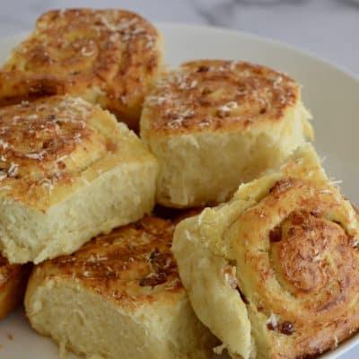 Pinwheel Bread Rolls | Bacon & Parmesan