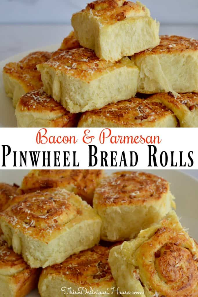 pinwheel bread rolls pinterest pin.